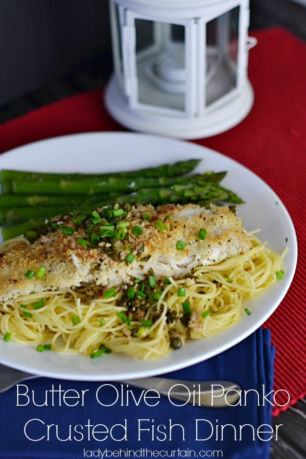 Butter Olive Oil Panko Crusted Fish Dinner - Lady Behind The Curtain #CollectiveBias #shop