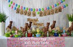 Chevron Easter Egg Hunt Kid's Party Table