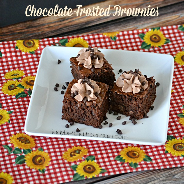 Chocolate Frosted Brownies - Lady Behind The Curtain