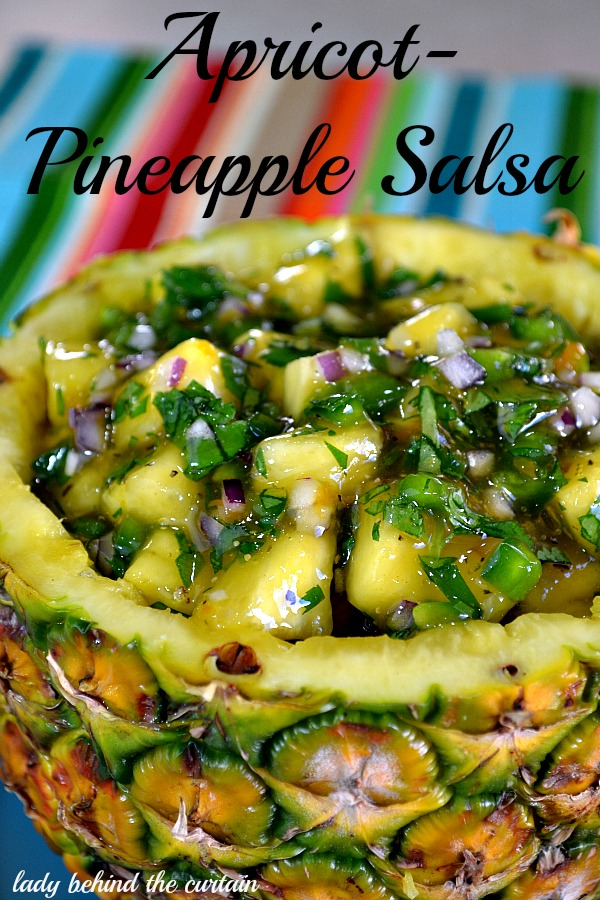Lady-Behind-The-Curtain-Apricot-Pineapple-Salsa