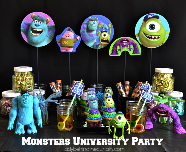 Scary dream cupcakes monsters university party voltagebd Gallery
