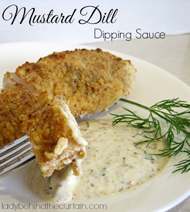 Mustard Dill Dipping Sauce - Lady Behind The Curtain