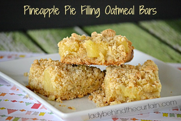 Pineapple Pie Filling Oatmeal Bars