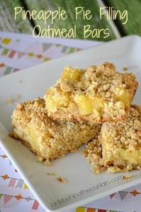 Pineapple Pie Filling Oatmeal Bars - Lady Behind The Curtain