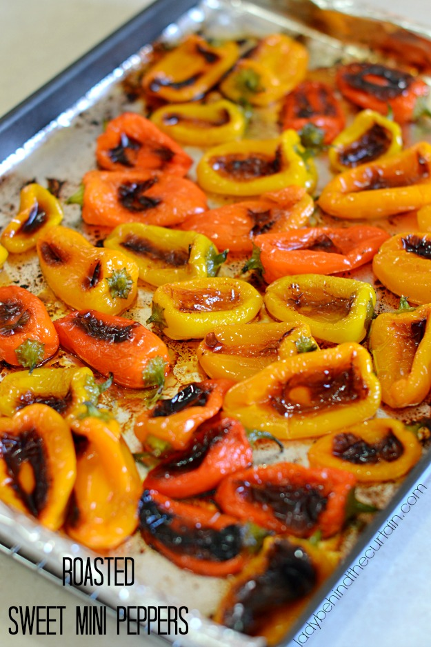 Roasted Sweet Mini Peppers - Lady Behind The Curtain