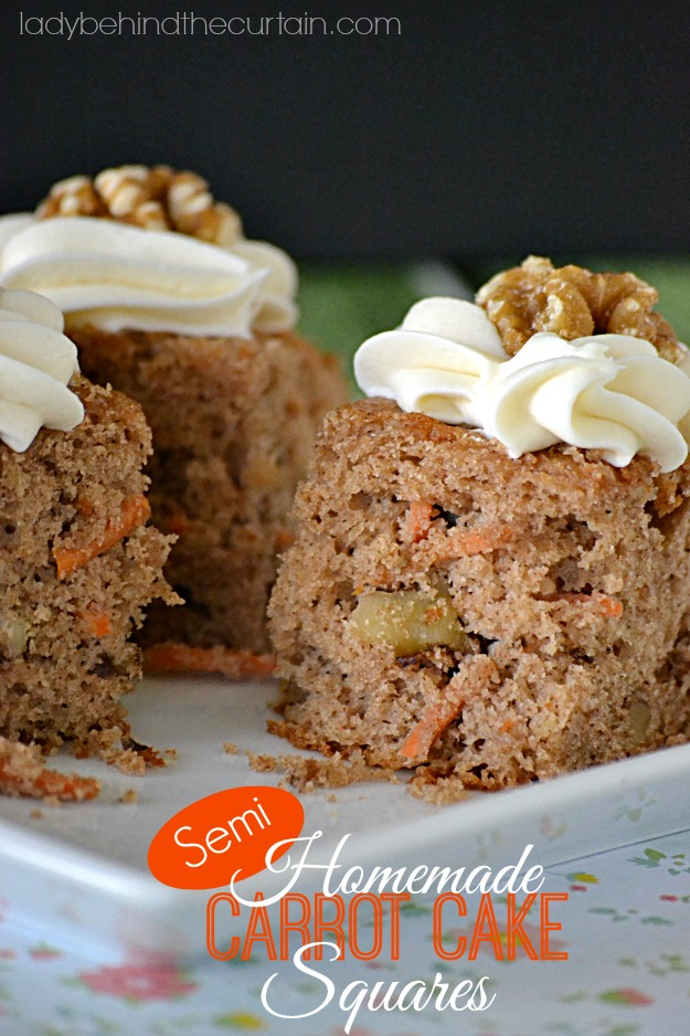 Semi Homemade Carrot Cake Squares - Lady Behind The Curtain
