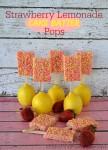 Strawberry Lemonade Cake Batter Treat Pops