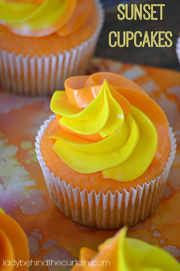 Sunset Cupcakes - Lady Behind The Curtain