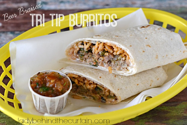 Beer Braised Tri Tip Burritos