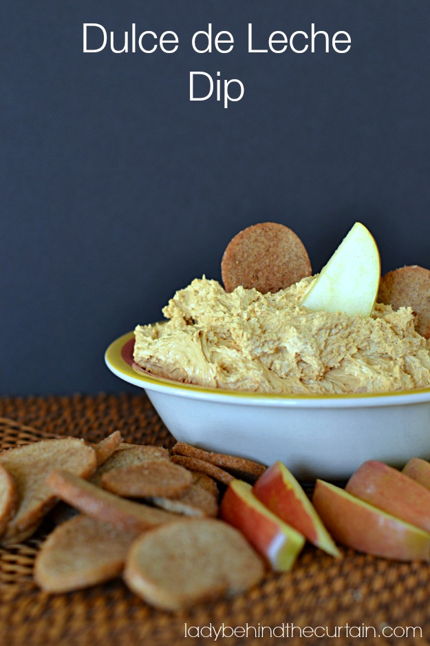 Dulce de Leche Dip - Lady Behind The Curtain