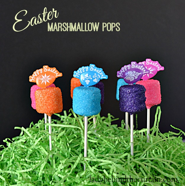 Easter Marshmallow Pops - Lady Behind The Curtain