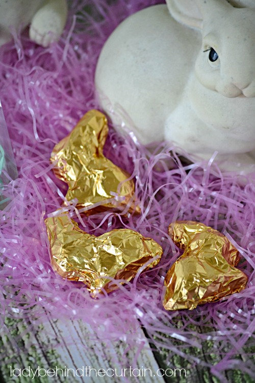 Filled Chocolate Easter Bunnies - Lady Behind The Curtain