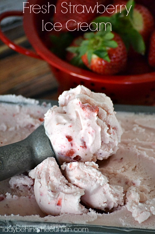 Fresh Strawberry Ice Cream - Lady Behind The Curtain
