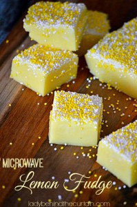 Microwave Lemon Fudge - Lady Behind The Curtain