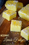 Microwave Lemon Fudge