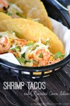 Shrimp Tacos with Roasted Corn Slaw