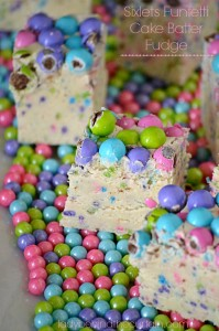 Sixlets Funfetti Cake Batter Fudge - Lady Behind The Curtain