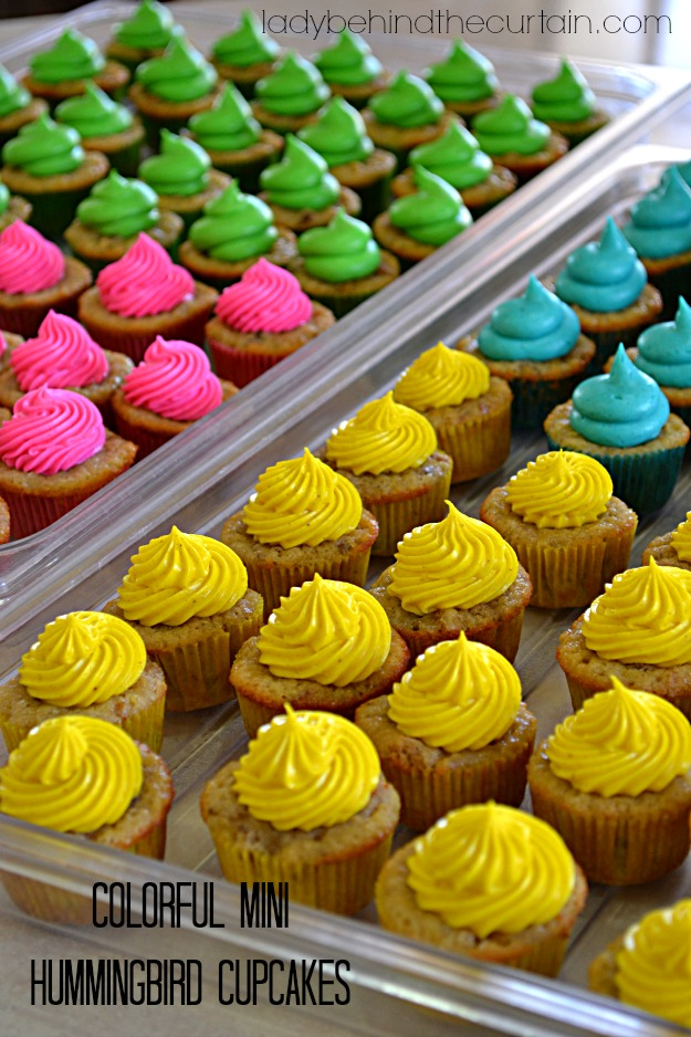 Colorful Mini Hummingbird Cupcakes - Lady Behind The Curtain