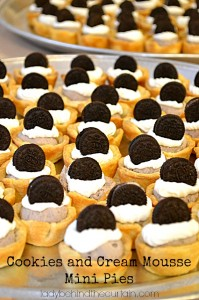 Cookies and Cream Mousse Mini Pies - Lady Behind The Curtain