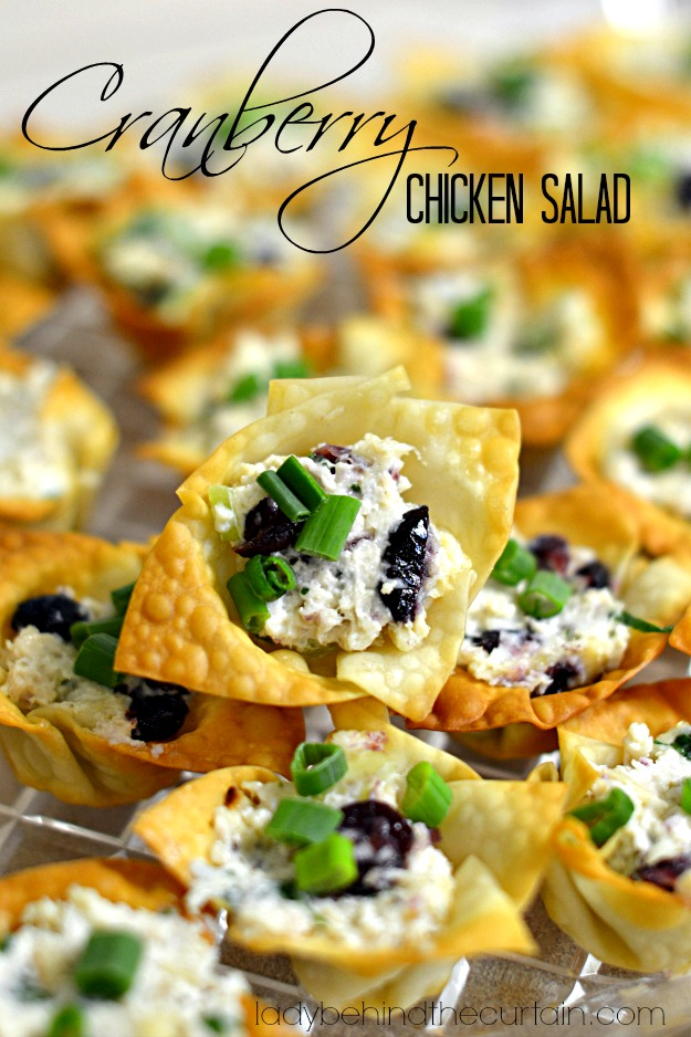 Cranberry Chicken Salad - Lady Behind The Curtain