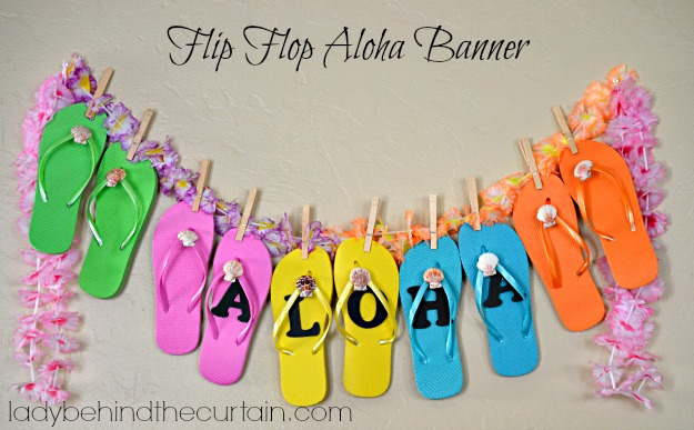 Flip Flop Aloha Banner - Lady Behind The Curtain