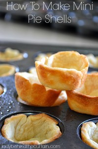 How To Make Mini Pie Shells - Lady Behind The Curtain