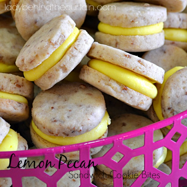 Lemon Pecan Sandwich Cookie Bites - Lady Behind The CurtainLemon Pecan Sandwich Cookie Bites - Lady Behind The Curtain
