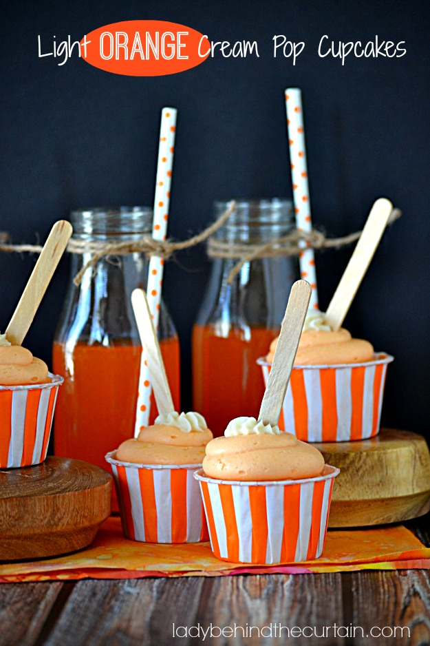 Light Orange Cream Pop Cupcakes - Lady Behind The Curtain