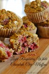 Light Raspberry White Chocolate Chip Muffins