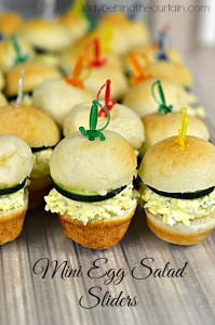 Mini Egg Salad Sliders - Lady Behind The Curtain
