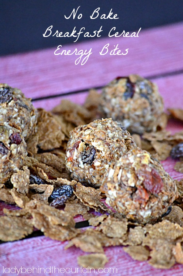 No Bake Breakfast Cereal Energy Bites - Lady Behind The Curtain