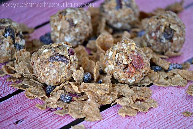 No Bake Breakfast Cereal Energy Bites