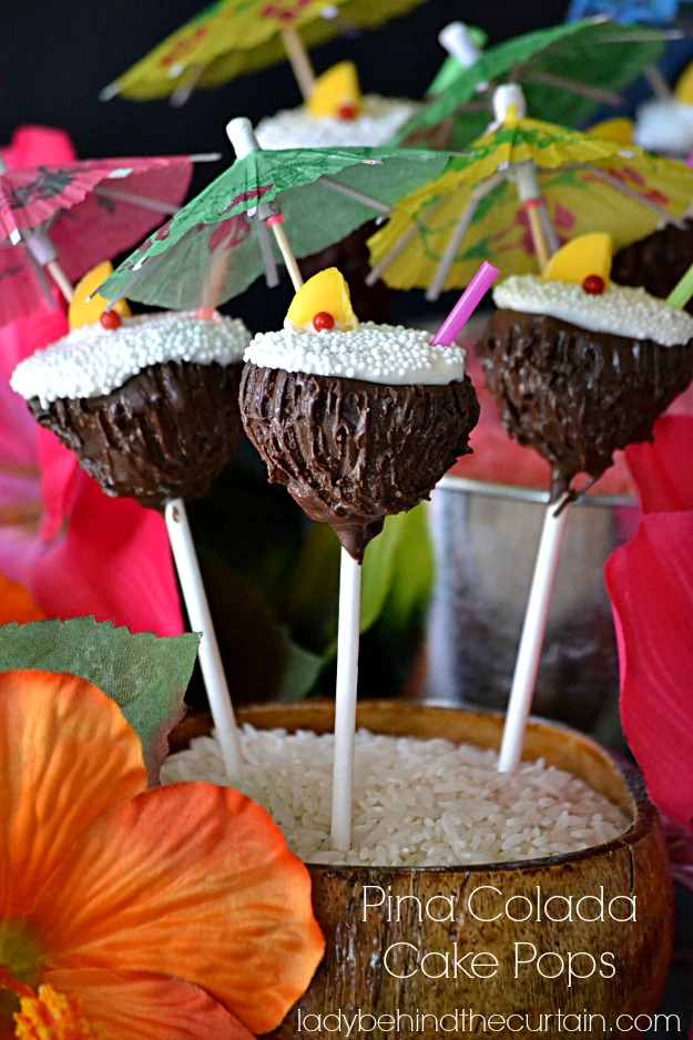 How to make pina colada cake pops
