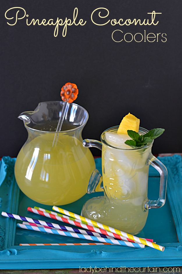 Pineapple Coconut Coolers - Lady Behind The Curtain