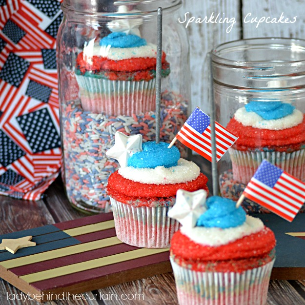 Sparkling Cupcakes - Lady Behind The Curtain