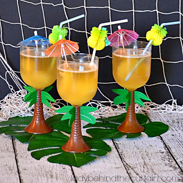 Sparkling Pineapple Slush Punch - Lady Behind The Curtain