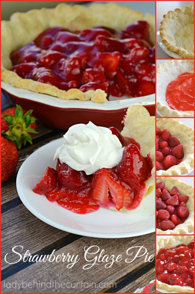 This Strawberry Glaze Pie has piles of fresh strawberries all encased with a homemade glaze.