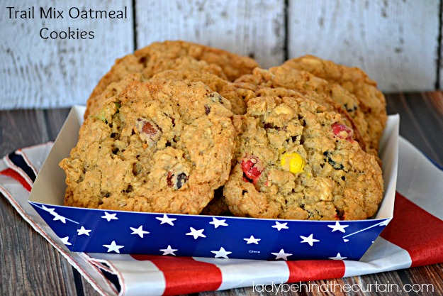 Trail Mix Oatmeal Cookies