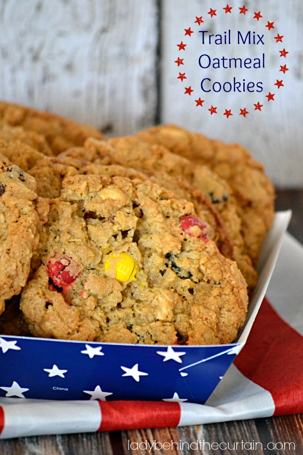 Trail Mix Oatmeal Cookies - Lady Behind The Curtain