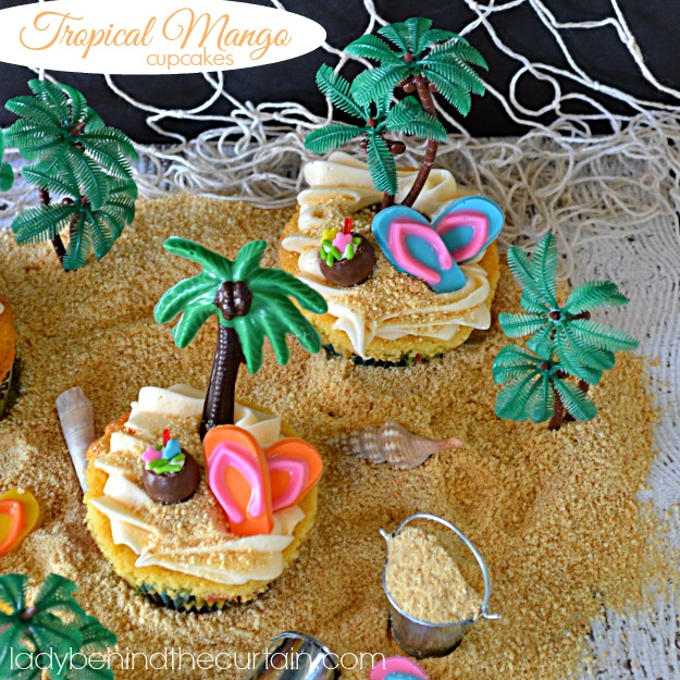 Tropical Mango Cupcakes