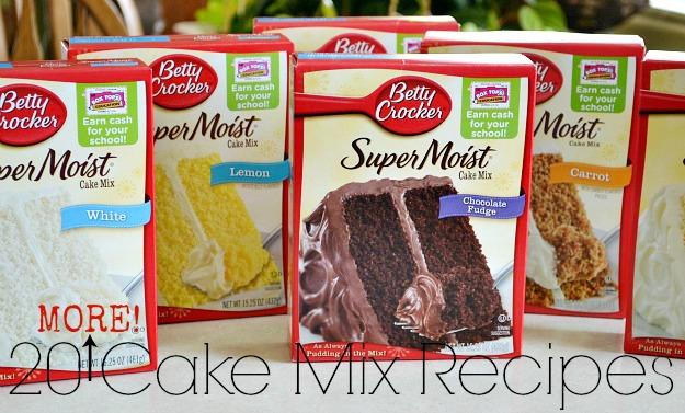 Mixing cum in a cake mix