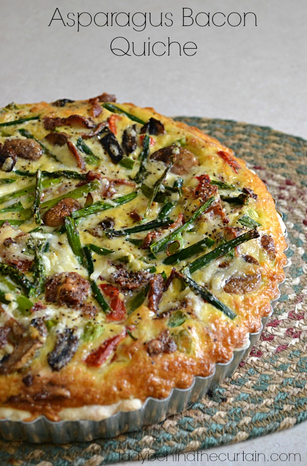 Asparagus Bacon Quiche - Lady Behind The Curtain