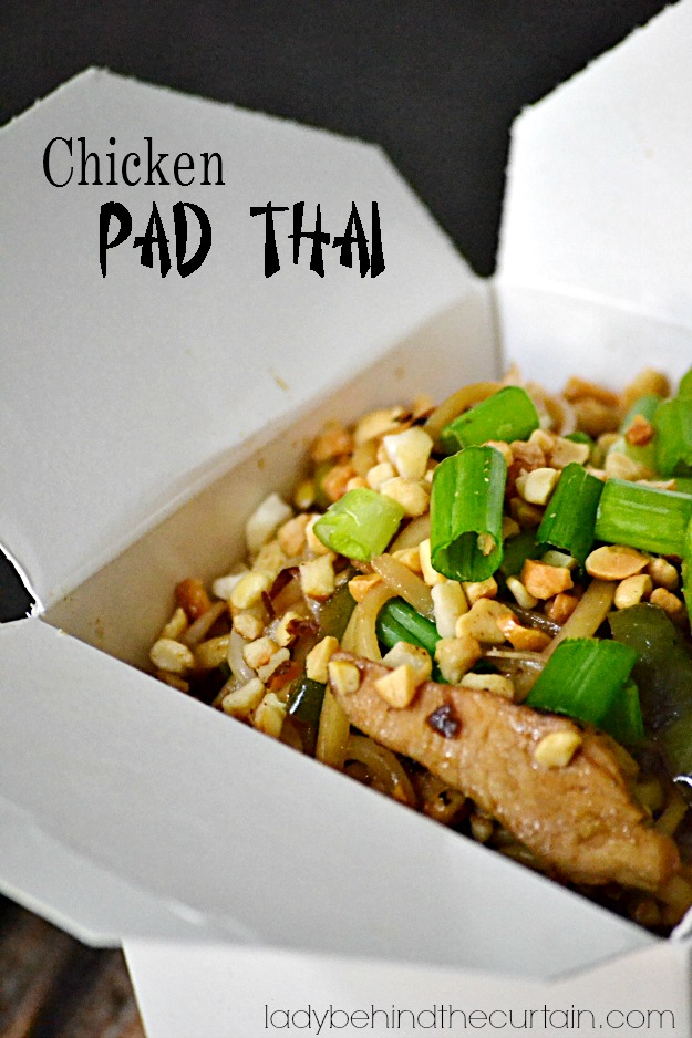 Chicken Pad Thai - Lady Behind The Curtain