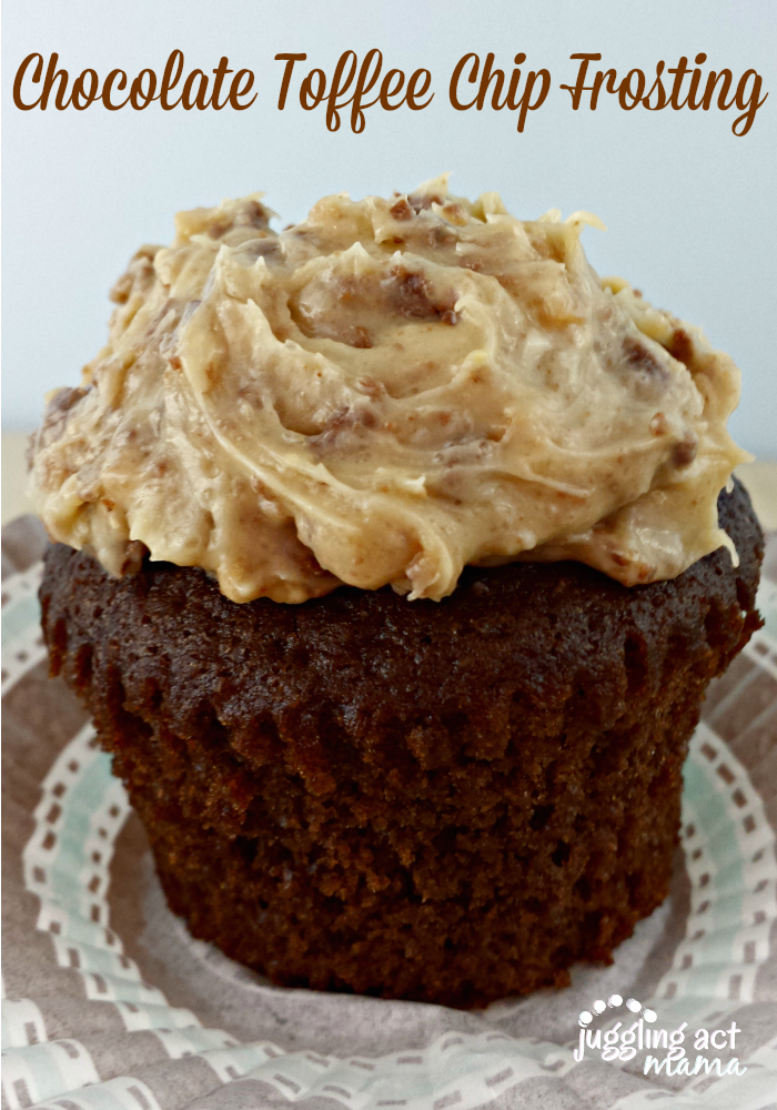 Chocolate Toffee Chip Frosting from Juggling Act Mama as seen on Lady ...
