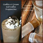 Cookies n' Cream Iced Coffee Frappuccino and Caramel Macchiato Iced Coffee Pops