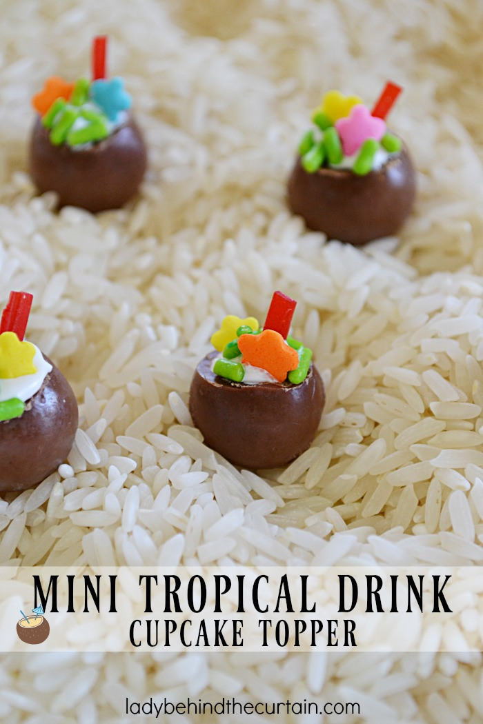 Add some fun to your cupcakes by creating these Mini Tropical Drink Cupcake Toppers. These adorable toppers are easy to make and will add something special to your cupcakes.