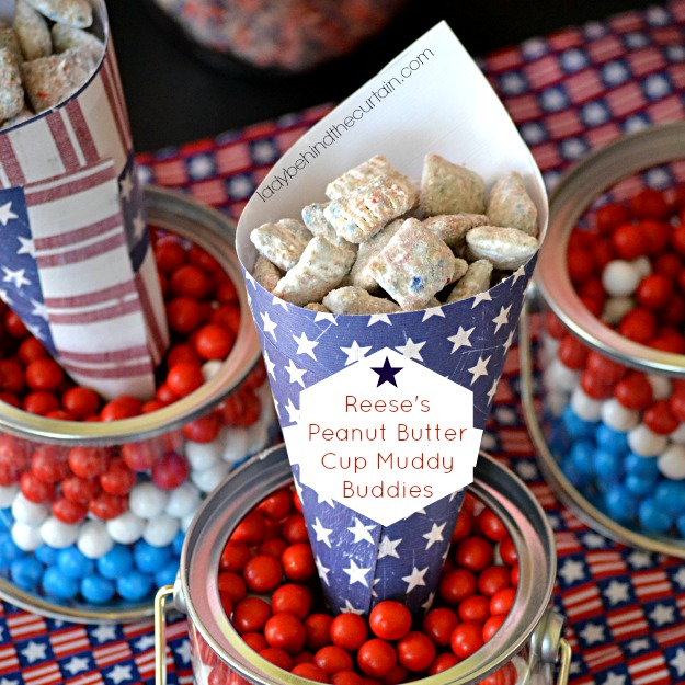 Reese's Peanut Butter Cup Muddy Buddies - Lady Behind The Curtain