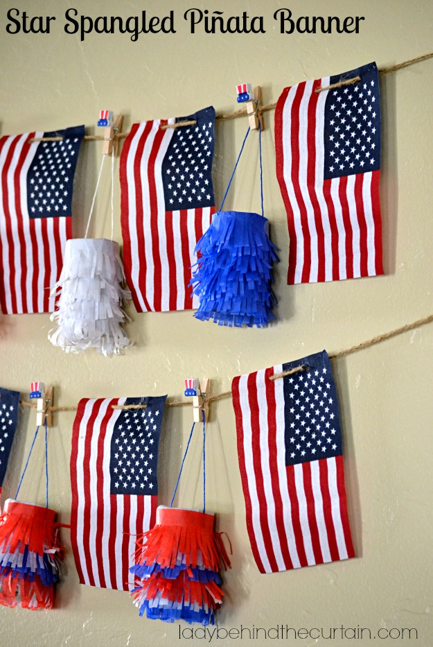 Star Spangled Piñata Banner - Lady Behind The Curtain