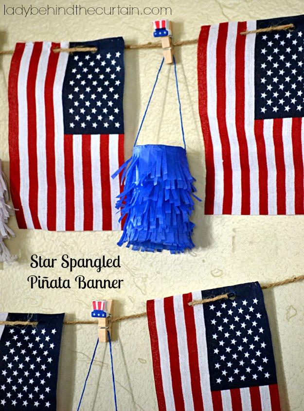 Star Spangled Piñata Banner - Lady Behind The Curtain