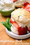 Strawberry-Basil Shortcake
